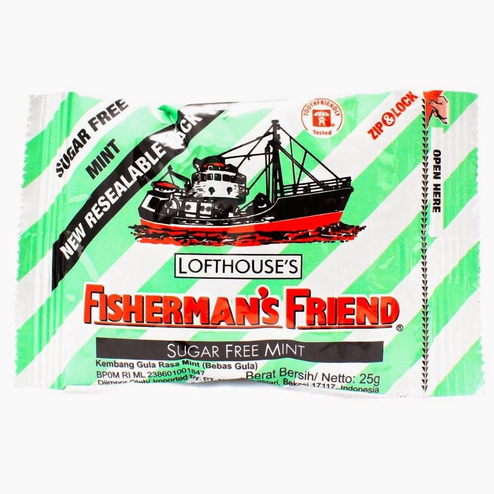 Aku Dan Fisherman's Friend Sang Permen Pelega Tenggorokan