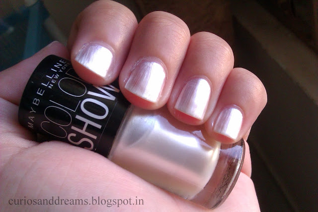 Maybelline Color Show review, Maybelline Color Show moon beam review