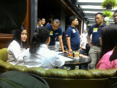 Re-enactment at Oliver Café in Jakarta