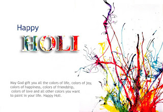 Hot wishes of holi