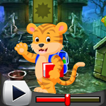 G4K Cartoon Tiger Rescue Game Walkthrough