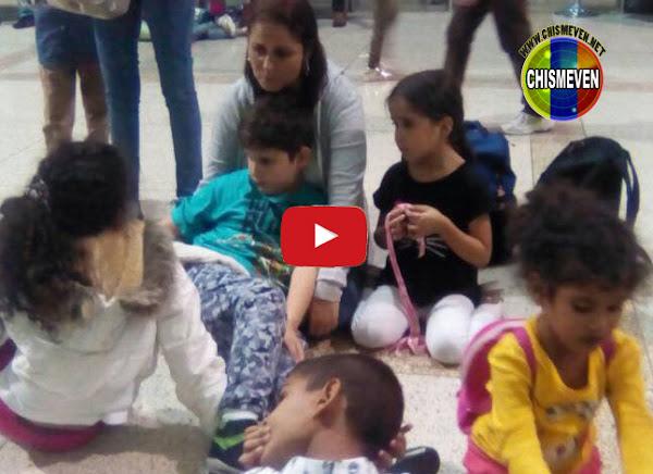 130 niños que escapaban a Perú fueron detenidos en Maiquetía