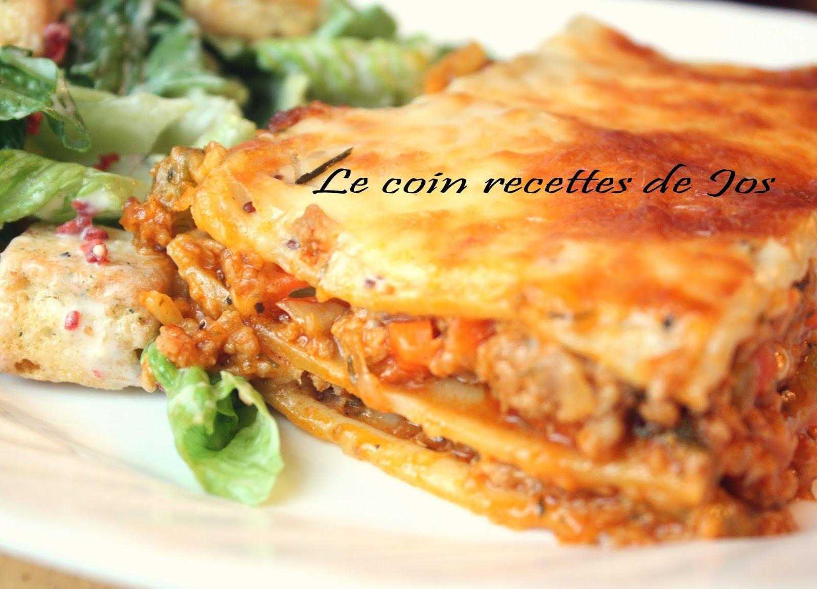 Lasagne Idee Recette.Le Coin Recettes De Jos Lasagne Au Porc En Sauce A La