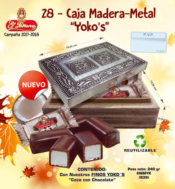 Caja de Madera y Metal con Yoko's 240 g - Comercial H. Martín sa