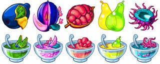 мирчар, витруальный питомец, варенье, фрукты