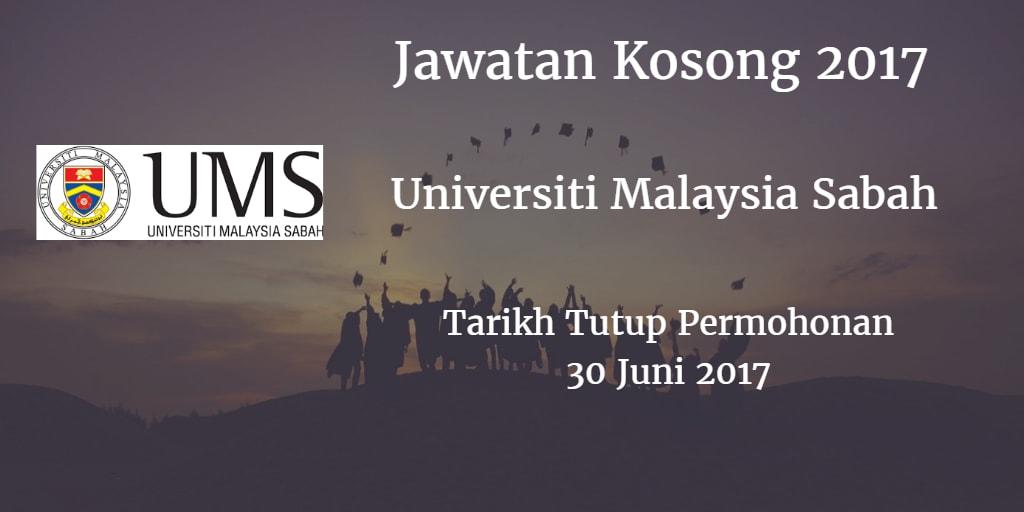 Jawatan Kosong UMS 30 Juni 2017