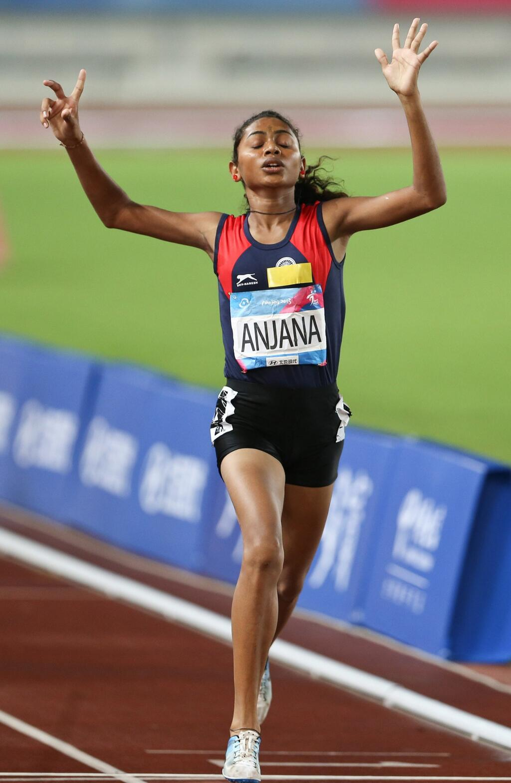 Anjana Dhavalu Thamake won Gold Medal at Asian Youth Games