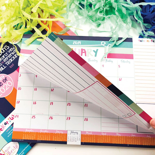 Reminder binder monthly calendar has extra writing space #ad