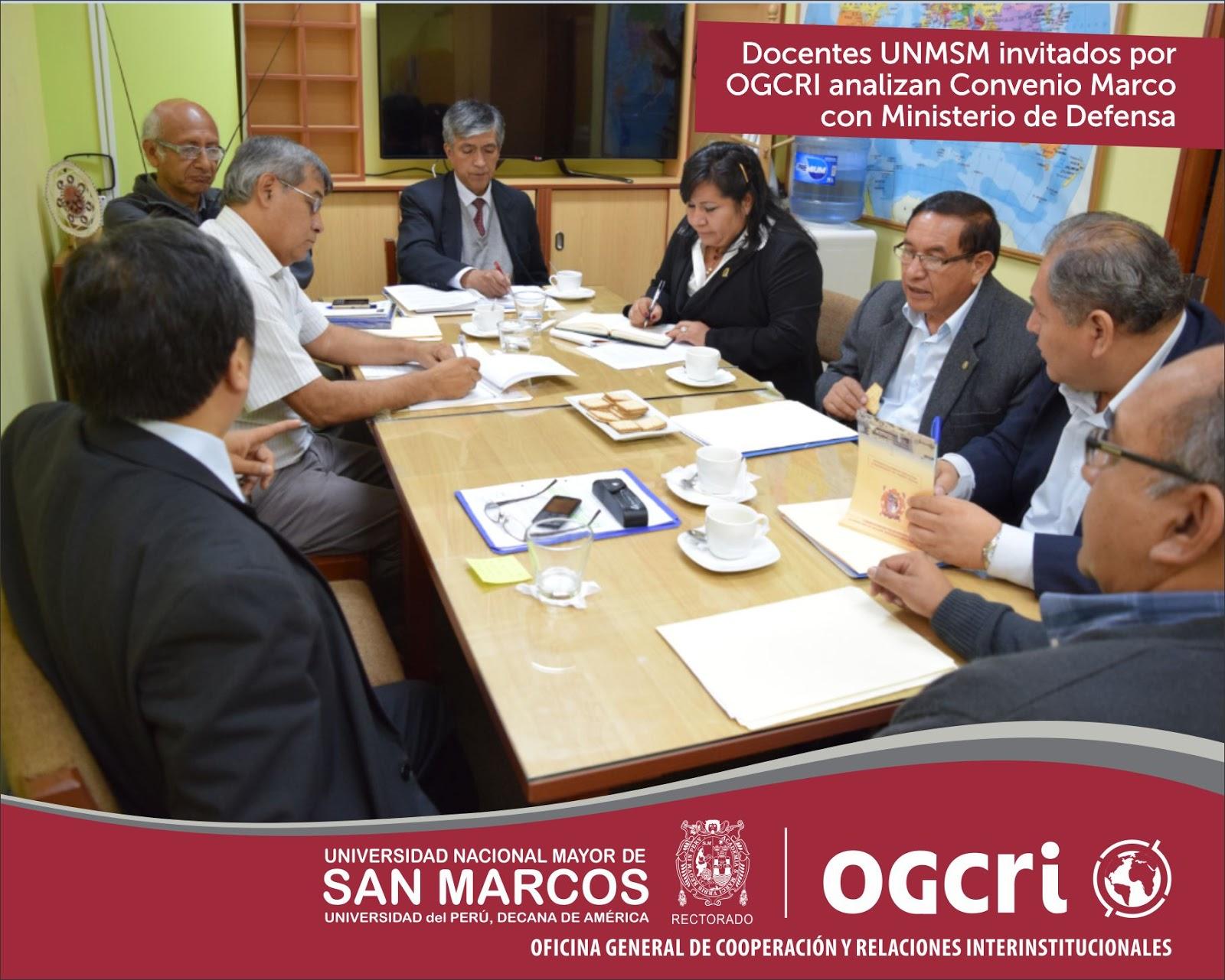 Ogcri unmsm se prepara convenio con ministerio de defensa for Convenio oficinas y despachos estatal