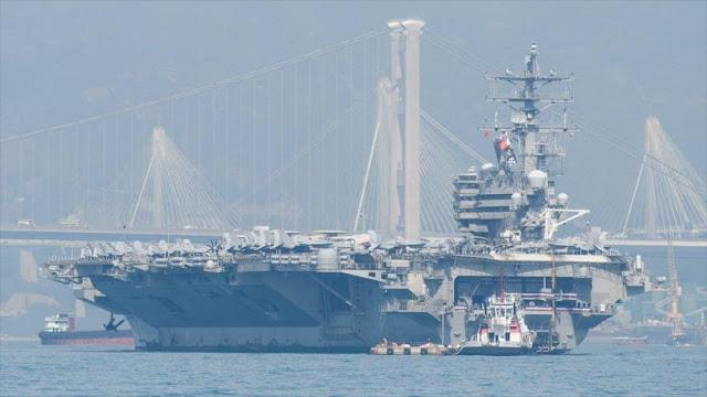 Portaviones USS Ronald Reagan llega a Hong Kong, retando a China
