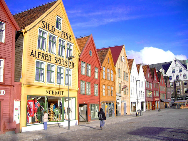 The vibrant Hanseatic wharf in Bergen, Norway. Photo: Andrea Giubelli - Visitnorway.com.