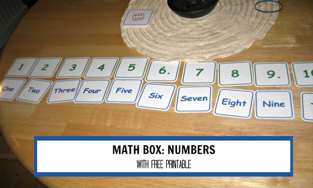 Number games in a math box with free printable