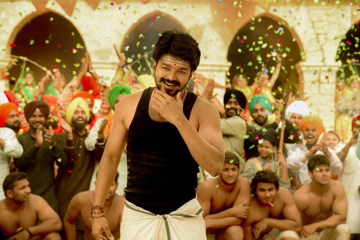 Actor Vijay Latest Tamil Movie Mersal Photos Working