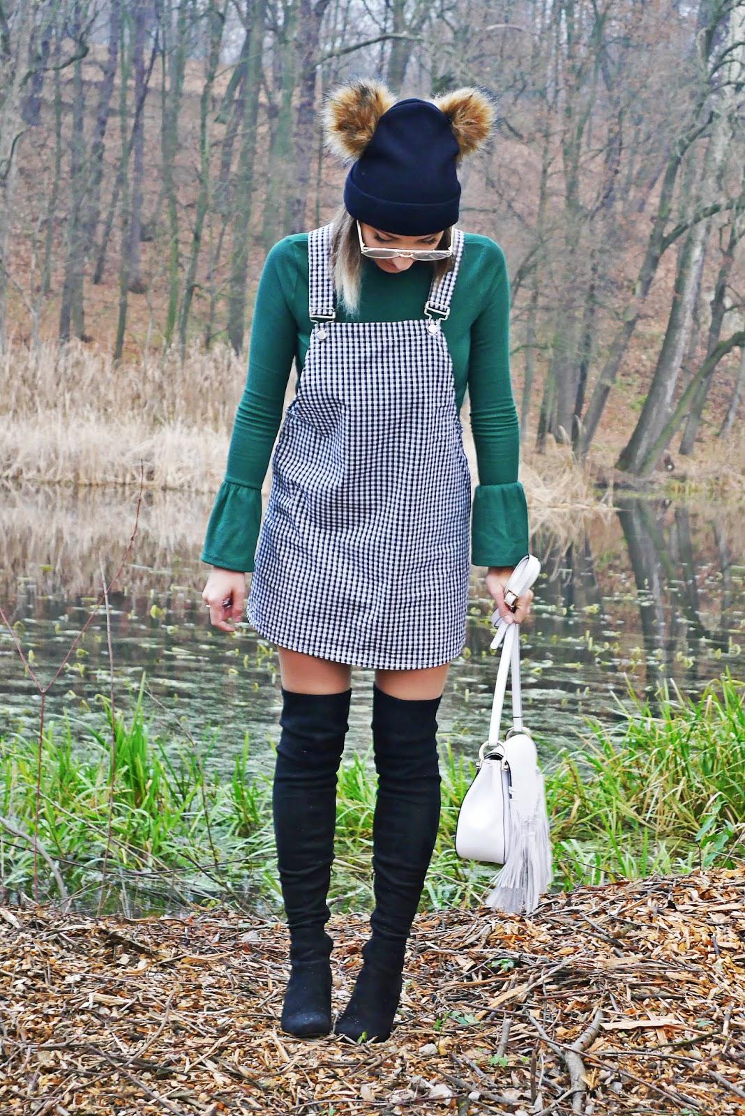 biała listonoszka laza kozaki za kolano renee zielony golf shein karyn blog modowy