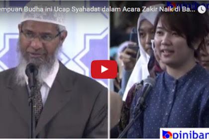 Takbir Membahana di Tempat Ini Setelah Wanita Budha Indonesia Nyatakan Masuk Islam Dalam Ceramah Umum Dr. Zakir Naik