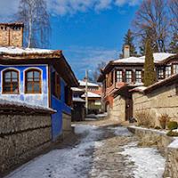 Стари къщи в гр. Копривщица, България