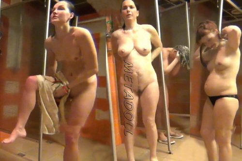 Sexy hidden cam video in the women's public shower room (Shower Spy 271-281)