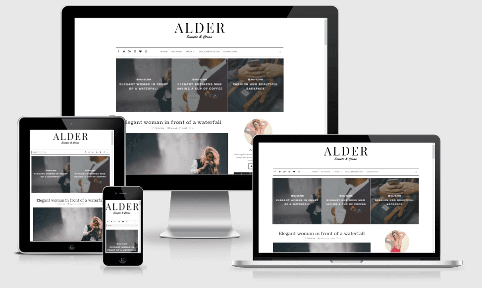 Alder - Responsive Clean & Simple Blogger Template