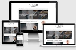 Alder Responsive Clean & Amp Simple Blogger Template Free Download