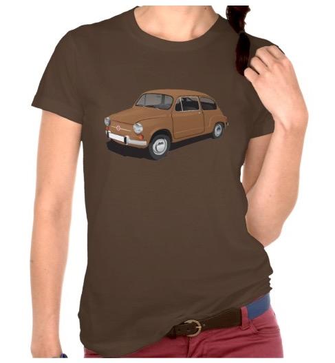 Classic Fiat 600 t-shirts