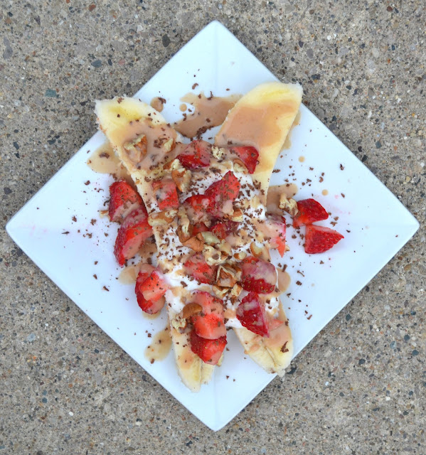 Breakfast Banana Split- healthy and satisfying!