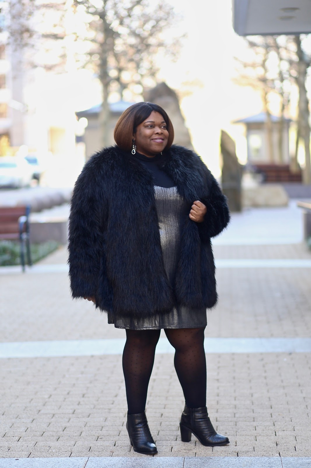 23c4e513567e Holiday Lookbook: LBD + Fashion Tights. Okay, I'm cheating a bit cause  clearly my dress isn't LBD.