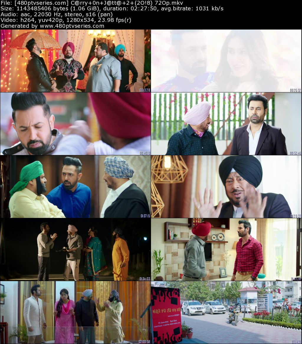 Download Carry on Jatta 2 (2018) 1GB Full Punjabi Movie Download 720p Web-DL Free Watch Online Full Movie Download Worldfree4u 9xmovies