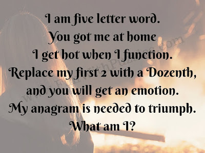 "Word Puzzle in which you have to find ""What am I""?"