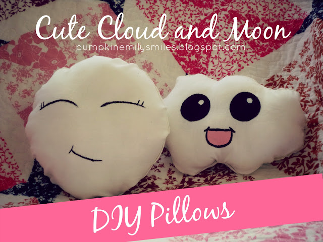 No Sew Cute Moon and Cloud DIY Pillows