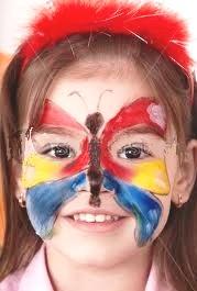 Okul öncesi Kelebek Yüz Boyama Yazdırılabilir Boyama Sayfaları