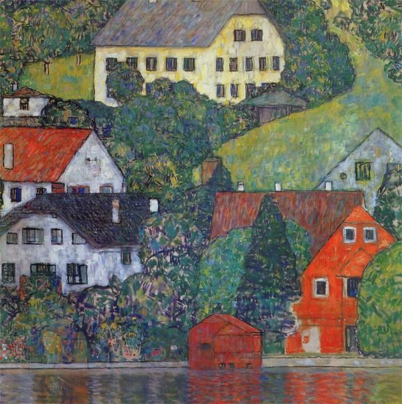 Klimt - Häuser in Unterach am Attersee 1916