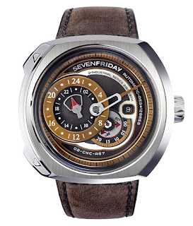 SEVENFRIDAY Q2/01 Q-Series Automatic Miyota 8219 Brown Leather Strap