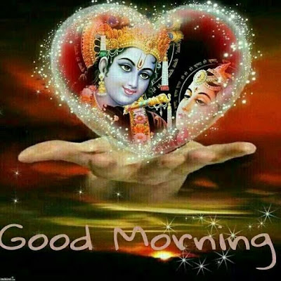 Good Morning Radha  and Krishna HD Image