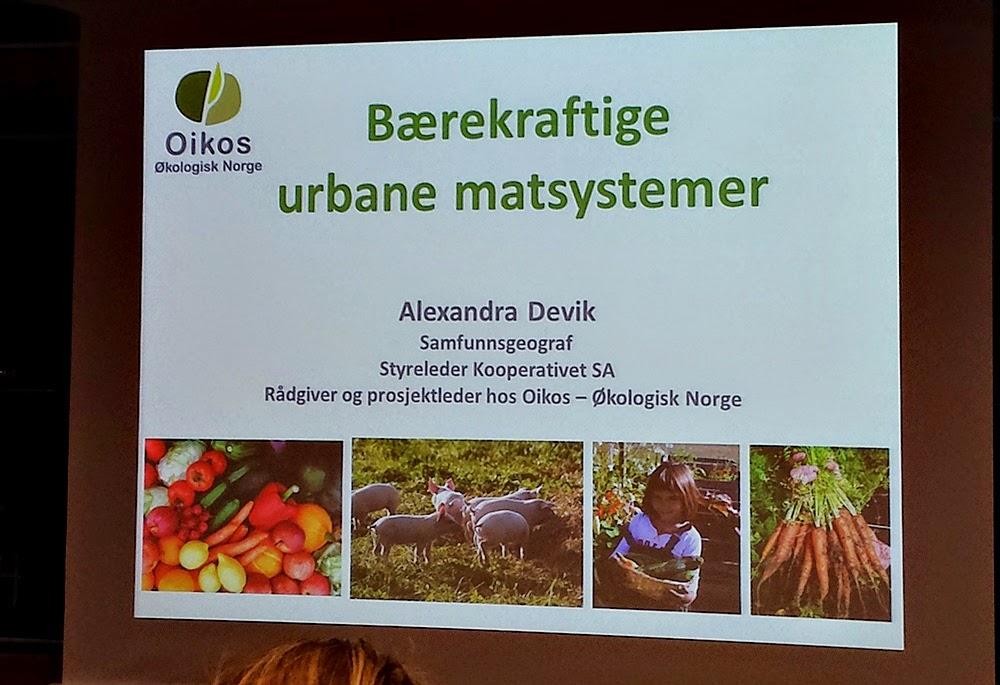 Seminar om bærekraftige urbane matsystemer