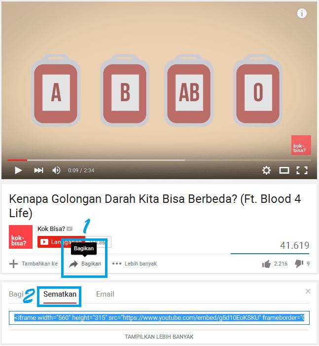 Panduan Dasar Cara Memasang Video YouTube Di Blog
