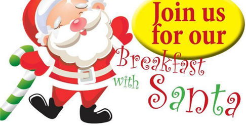 Breakfast with Santa on Dec 9th