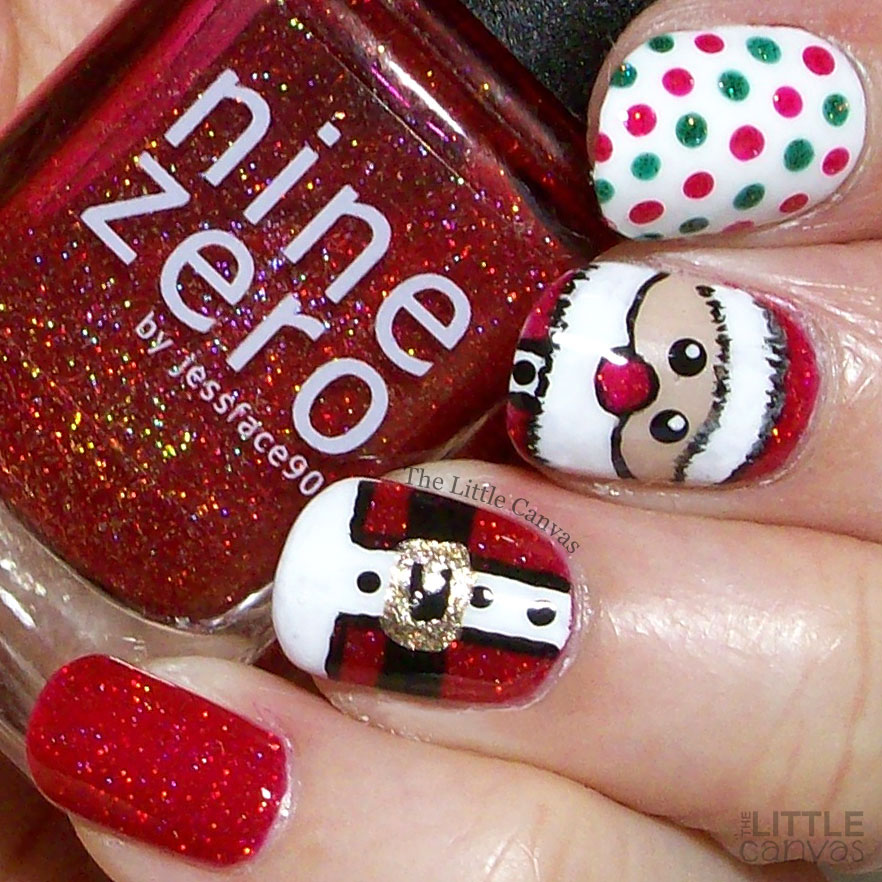 The One With The Santa Claus Nail Art The Little Canvas