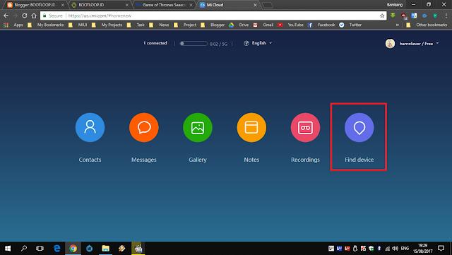 Find Device Xiaomi
