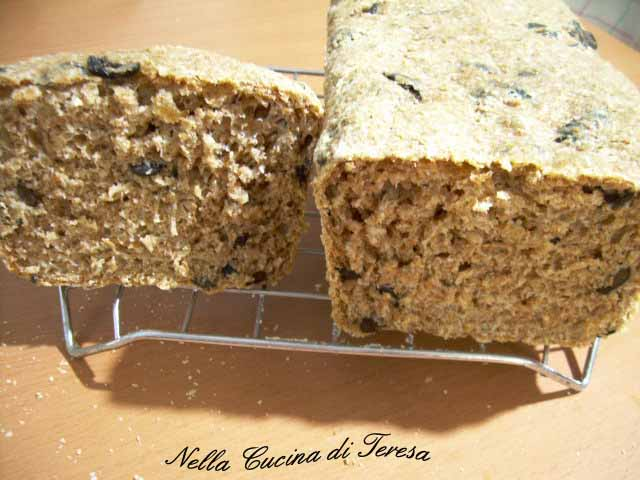 Nella cucina di teresa pane integrale alle olive - Nella cucina di teresa ...