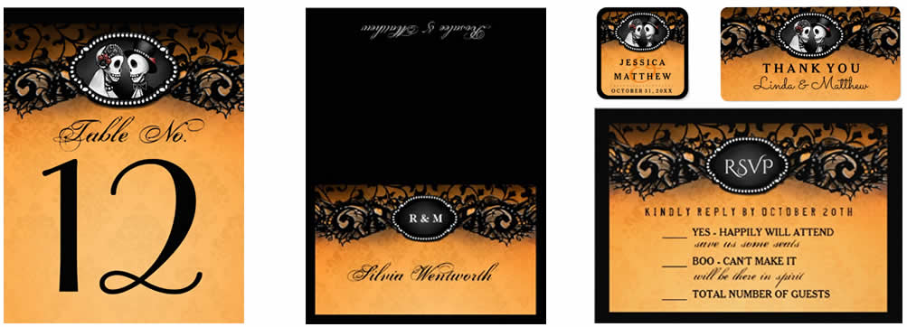 see matching wedding table cards custom labels RSVP cards and more