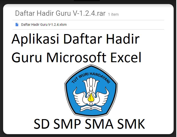 Aplikasi Daftar Hadir Guru Microsoft Excel Mudah Digunakan Download Galeri Guru