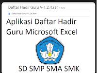 Aplikasi Daftar Hadir Guru Microsoft Excel Mudah digunakan