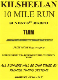 10 mile race nr Clonmel, Tipp - Sun 8th Mar 2020