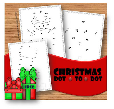 christmas worksheets to help preschool, prek, and kindergarten age kids to practice counting to 50