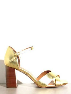 Sandales Rivecour gold