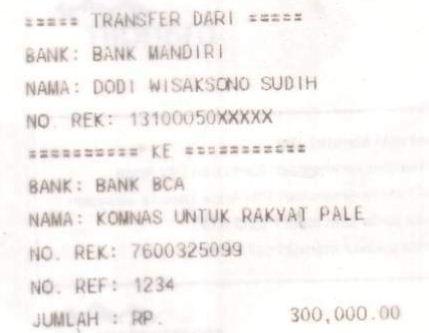 Transfer ke KNRP