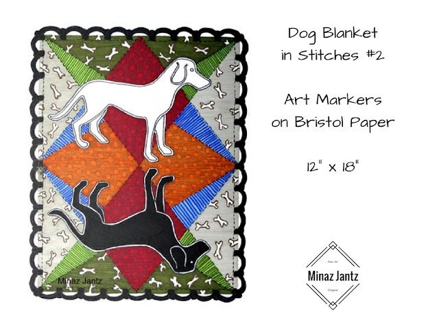 Dog Blankets in Stitches #2 by Minaz Jantz