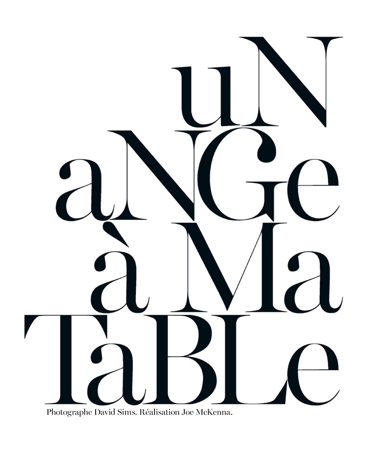 Un Ange A Ma Table Sam Rollinson By David Sims For Vogue Paris May