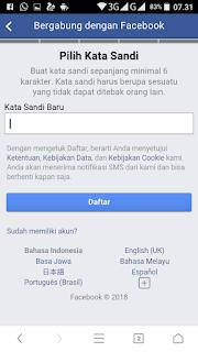 cara membuat facebook di hp dengan Gmail