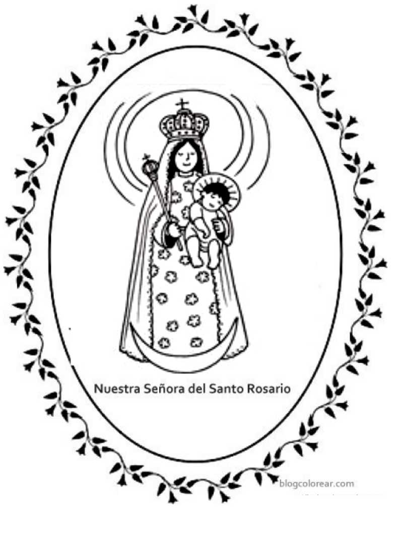 Colorear Nuestra Señora Del Santo Rosario Guatemala